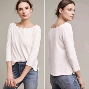 Anthropologie   Scalloped Top by Eri and Ali